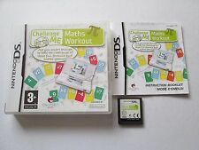 Challenge Me: Maths Workout For Nintendo DS / DSi Game Complete PAL 2009