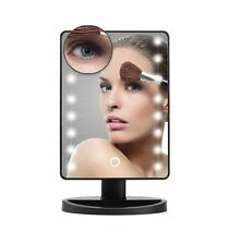 Professional 16 LED Touch Screen 180 Degree Free Rotation Make up Vanity Mirror
