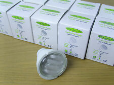 10 Pack of Halolite GU10 Low Energy Saving CFL Warm White Bulb/ Lamp. 7w = 35w.