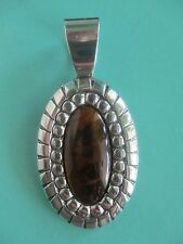 Carolyn Pollack Relios Oval Tiger's Eye Sterling Silver Pendant Very BEAUTFUL!