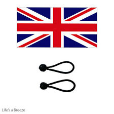 Union Jack Flag 5x3 Ft Poles Or Windsocks Poles.Comes With Free Ball Ties