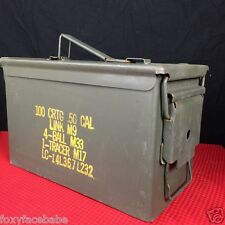 US Military Surplus .50 Cal M2A1 5.56mm Ammo Can Metal Storage Box FAT 50 | EUC