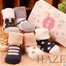 Lot of 6 Baby Anti-slip Socks Cartoon Newborn Slipper Shoes Boots 0-6 Months FRR