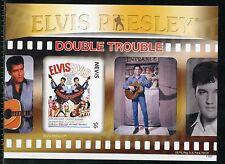 NEVIS  ELVIS PRESLEY DOUBLE TROUBLE IMPERFORATE SOUVENIR SHEET IV  MINT NH
