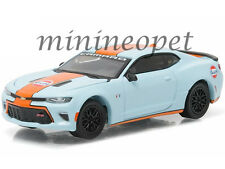 GREENLIGHT 51059 2016 16 CHEVROLET CAMARO SS GULF OIL 1/64 DIECAST LIGHT BLUE