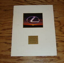 Original 1992 Lexus Full Line Sales Brochure 92 LS 400 SC 400 300 ES 300