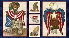 American Honor Panel by Blank Quilting-Eagle-Soldier-Boots-Quilts of Valor