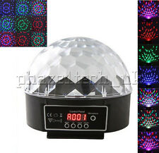 LED Sound Music Active DMX512 Crystal Stage Light Remote Disco DJ Party 110/220V