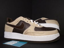 2005 Nike Air Force 1 MR. CARTOON LASER BROWN PRIDE LINEN BAROQUE WHITE LA DS 10