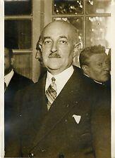 """""""Mr BATHIAT Président VIEILLES TIGES 1932"""" Photo originale G. DEVRED (Agce ROL)"""