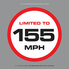 SKU1121 - LIMITED TO 155MPH Vehicle Speed Restriction Sticker Vinyl Car Van 80mm