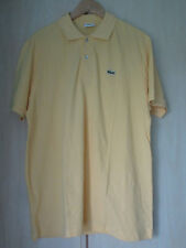 mens LACOSTE YELLOW COTTON POLO SHIRT SIZE (4) MEDIUM (LOOSE FIT)