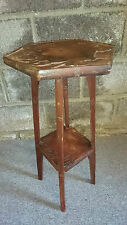 RETRO DEEPLY CARVED OCCASIONAL TABLE WITH SHELF MUSIC THEME, ELEGANT PLANT STAND