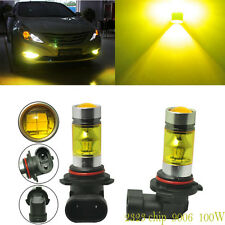 Pair Yellow 9006 HB4 Fog Light SAMSUNG 2323 LED 100W Driving Projector Bulbs