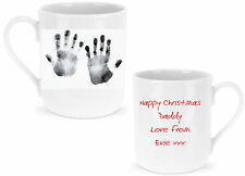 Baby / Childs Handprint Personalised Mug Ideal GIFT for Father's Day , Birthday