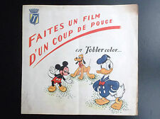 RARISSIME Tobler color ancienne Publicité Toblerone Chocolat Walt Disney Chromos