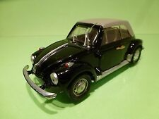 POLISTIL S15 VW VOLKSWAGEN BEETLE KAFER  CABRIOLET - BLACK 1:25 - GOOD