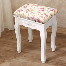 Padded Dressing Table Stool Chair Piano Bedroom Rest Makeup Seat Baroque Vintage