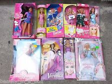 Barbie Doll Lot 10 NRFB Boxes have damage. Princess Bride Veronica Pen Friend