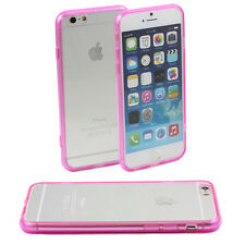 PINK iPHONE 6 APPLE 4.7 HARD BACK CLEAR CASE TPU SILICONE BUMPER COVER M44
