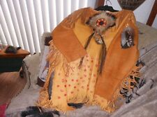 NATIVE AMERICAN INDIAN WOLF WAR SHIRT POW WOW REGALIA  MEN'S MEDIUM TO LARGE