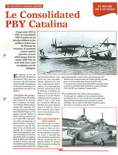 Consolidated PBY Catalina amphibious aircraft Seaplane Bombe-bay FRANCE FICHE
