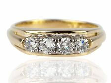 14 K 585 jaune or 0,50 ct Brillant Diamant Bande Bague Femmes