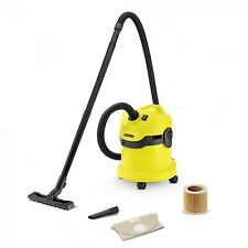 Karcher WD2 Tough Vac Wet and Dry Vaccum Cleaner - Yellow Cylinder Vacuum