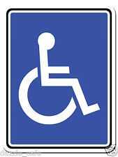 "Handicap / Disabled Parking Only 9""x 12""  Aluminum Sign Person in Wheelchair 316"
