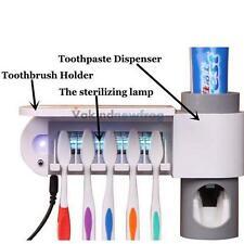 Hot UV Toothbrush Holder Storage Set Sterilizer Automatic Toothpaste Dispenser V