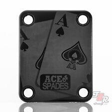Engraved Guitar Neck Joint Heel Plate (Standard 4 Bolt) BLACK #2122