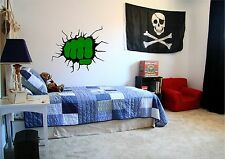 INCREDIBLE HULK FIST HIT WALL CRACK DECAL ART GRAPHIC LIVING ROOM ANY ROO
