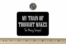3 x 4 Biker Refrigerator Magnet My Train Of Thought BM622