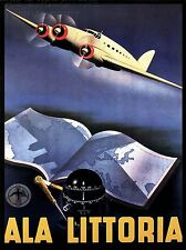 ART PRINT POSTER TRAVEL AIRLINE AEROPLANE MAP ATLAS ITALY NOFL1296