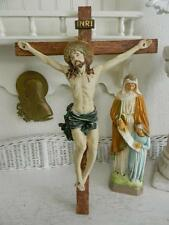 Lg. Jesus on Cross~Crucifix~Hanging Church Altar Piece~Details