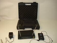 NADY Encore Duet VHF Dual Wireless Receiver Ch. P, R + WLT-15 Transmitter, Case