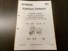 Yamaha FZR 500 600 FZR500 FZR600 1991 Assembly Manual Montageanleitung