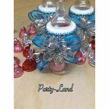 12 Fillable Bottles for Baby Shower Favors Blue Party Decorations For Boy