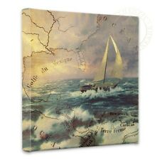 "Thomas Kinkade Wrap - Perseverance Map Collage 14"" x 14"" Gallery Wrapped Canvas"