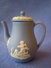 Wedgwood blue jasper ware miniature coffee pot