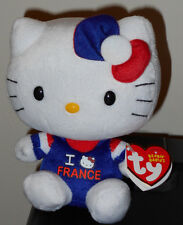 Ty Beanie Baby ~ HELLO KITTY I Love FRANCE ~ French EXCLUSIVE ~MINT w/ MINT TAGS