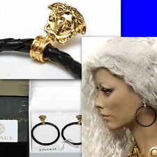 GIANNI VERSACE Ladies GOLD MEDUSA EARRINGS w/ Box & Certificate