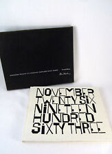 November Twenty Six Nineteen Hundred Sixty Three - JFK  Wendell Berry Ben Shahn