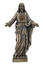 Sacred Heart Of Jesus With Open Arms Statue Sculpture Figurine bronze finish