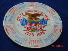 Vintage Collector PLate Bicentennial Calender 1976 200th Anniversary