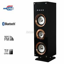 FoxHunter Bluetooth Wireless Portable Tower Speaker FM Radio TF Card USB Golden