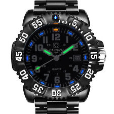 Luxury Mens H3 Tritium Light Date Navy Seal Date Quartz Military Sports Watch