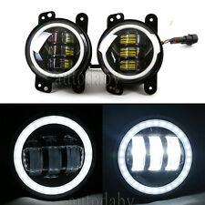 "Pair 4"" inch 30W CREE LED Fog Light Driving Lamp DRL 2007-2015 Jeep Wrangler JK"