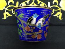 Vintage Chinese cloisonne Small Trinket Pot