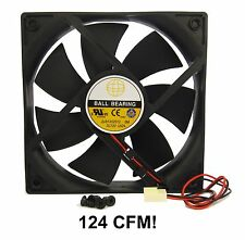 120mm 25mm New Case Fan 12V DC 124 CFM Ball Brg 2 Pin PC Computer Cooling 350*